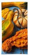 Autumn Gourds Still Life Beach Towel