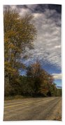 Autumn Highway Beach Towel