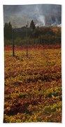 Autumn In Napa Valley Beach Towel