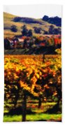 Autumn In The Valley 2 - Digital Painting Beach Sheet