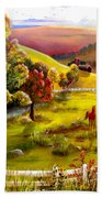 Autumn In The Valley Beach Towel