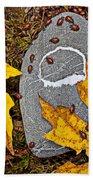 Autumn Ladybugs Beach Towel
