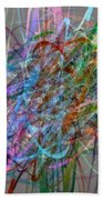 Autumn Likes Lines Beach Towel by Michelle Calkins