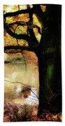 Autumn Oak Tree Beach Towel