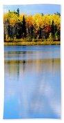 Autumn On Chena Lake Beach Towel