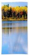 Autumn On Chena Lake L Beach Towel