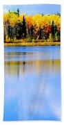 Autumn On Chena Lake Ll Beach Towel