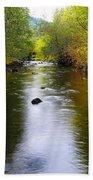 Autumn On Satus Creek  Beach Towel