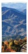 Autumn On The Blue Ridge Parkway Beach Towel
