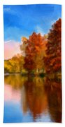 Autumn On The Lake Beach Towel