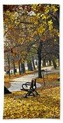 Autumn Park In Toronto Beach Towel by Elena Elisseeva