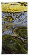 Autumn Patterns In Small Waterfall Beach Towel