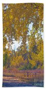 Autumn Picnic Spot Beach Towel