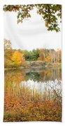 Autumn Pond Beach Towel