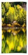 Autumn Reflection In Georgetown Lake Colorado Beach Towel