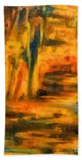 Autumn Reflection In The Water Beach Towel