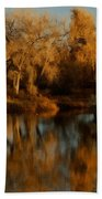 Autumn Reflections Painterly Beach Towel