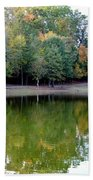 Autumn Reflections Upon Dark Waters Beach Towel