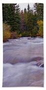 Autumn River Beach Towel