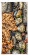 Autumn Texture Beach Towel