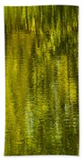 Autumn Water Reflection Abstract IIi Beach Towel