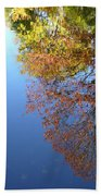 Autumn's Watery Reflection Beach Towel