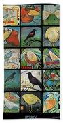 Aviary Poster Beach Towel
