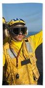 Aviation Boatswain Mates Direct An Beach Towel