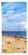 Avon Beach At Mudeford In Dorset Beach Towel