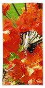 Azalea And Butterfly 1 Beach Towel