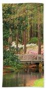 Azaleas And Footbridge Beach Sheet