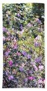 Azaleas In The Forest Beach Towel