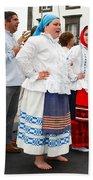 Azorean Folk Music Group Beach Sheet