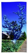 Baby Blue Tree Beach Towel