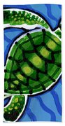 Baby Green Sea Turtle Beach Towel