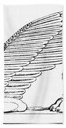 Babylonian Sphinx Beach Towel