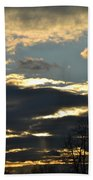 Backlit Clouds Beach Towel