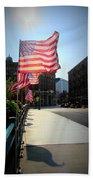 Backlit Flag Beach Towel