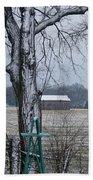 Backyard Panoramic Beach Towel
