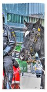 Badges And Horses Beach Towel