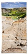Badlands In Alberta Beach Towel by Elena Elisseeva