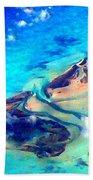 Bahama Out Island Filtered Beach Towel