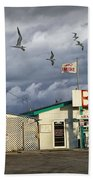 Bait Shop By Aransas Pass In Texas Beach Towel