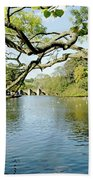 Bakewell Riverside - Through The Branches Beach Towel