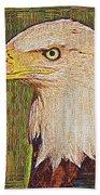 Bald Eagle Embroidered Beach Towel