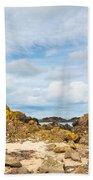 Ballintoy Bay Basalt Rock Beach Towel