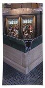 Baptismal Font Salisbury Cathedral - England Beach Towel