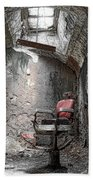 Barber - Chair - Eastern State Penitentiary Beach Towel