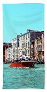 Barca Di Venezia Beach Towel