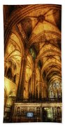 Barcelona Cathedral  Beach Towel
